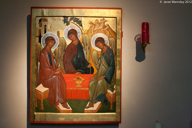 Icon in the the Barn Chapel