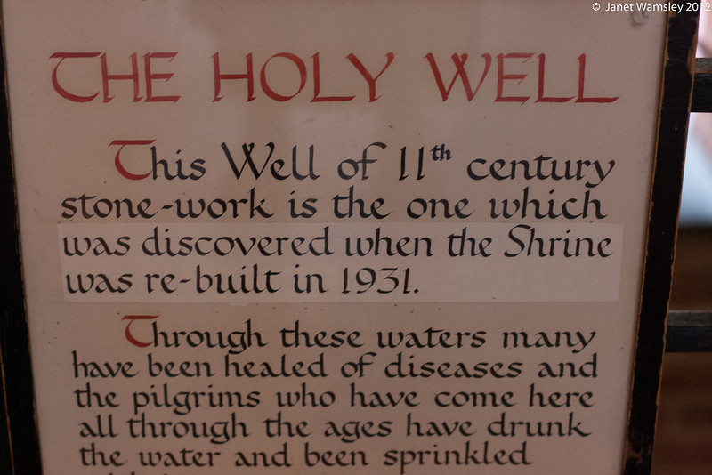 Description of the waters of the Holy Well