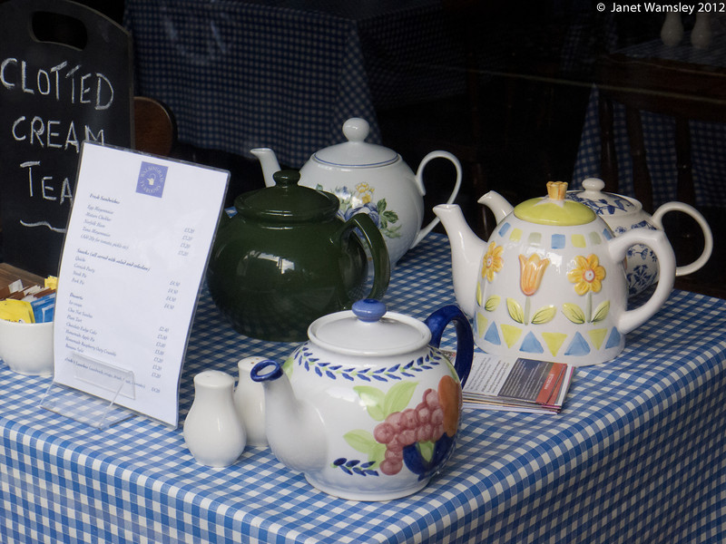 Teapots at the Walsingham Tea Room