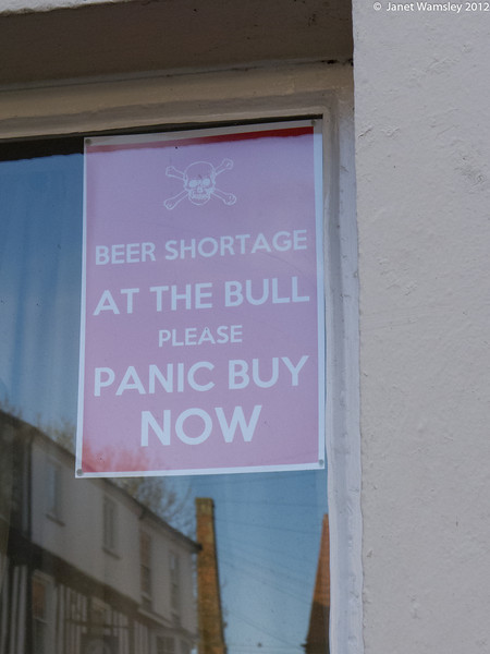 Sign at the Bull