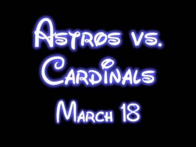 Astros vs Cardinals March 18