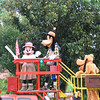 Minnie, Goofy, and Pluto arrive to open Animal Kingdom