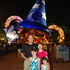 In front of Mickey's Sorcerer's Hat at Disney's Hollywood Studios