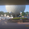Spaceship Earth from the Epcot main gate