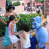 Heather and Evelyn meet Jasmine and the Genie