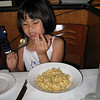 Heather with her macaroni and cheese