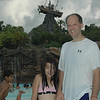 Evelyn and Keith waiting for the big wave at the Wave Pool
