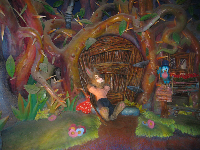 Deep in the bowels of Splash Mountain
