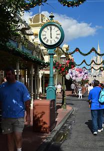 Clock on main street of Magic Kingdom