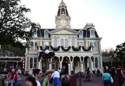 City Hall on main street in the magic Kingdom