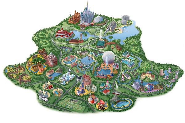 Maps of Disney