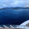 Approaching Charlotte Amalie.