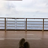View from the Deck Chair on Deck 4 on the Disney Fantasy.