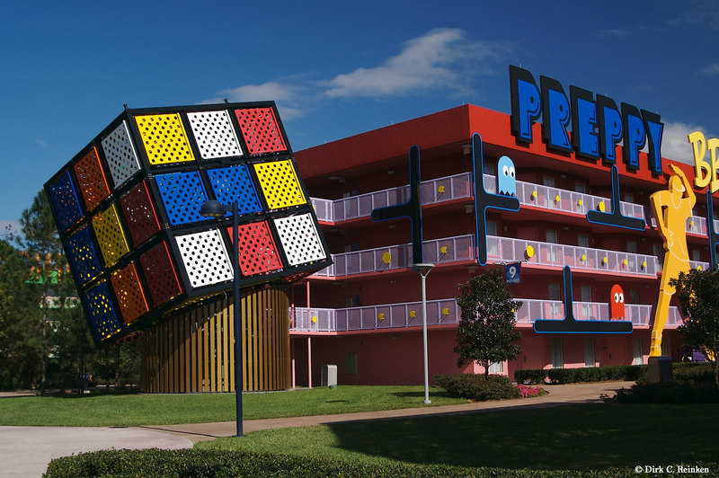 '80s building at Pop Century