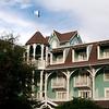 Intricate woodwork and seafoam green are design hallmarks of Disney's Beach Club Villas.