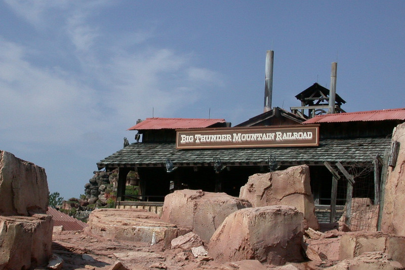 Big Thunder Mountain Railroad entrance.