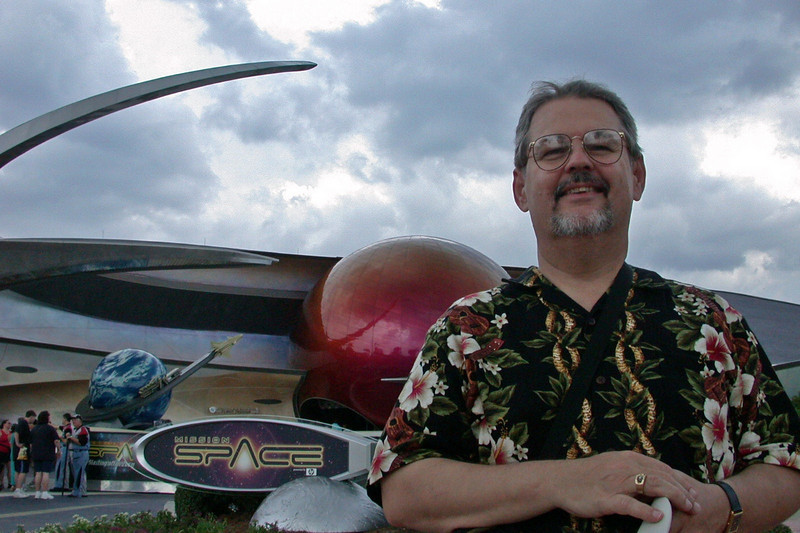 Jim really loves Mission: Space.