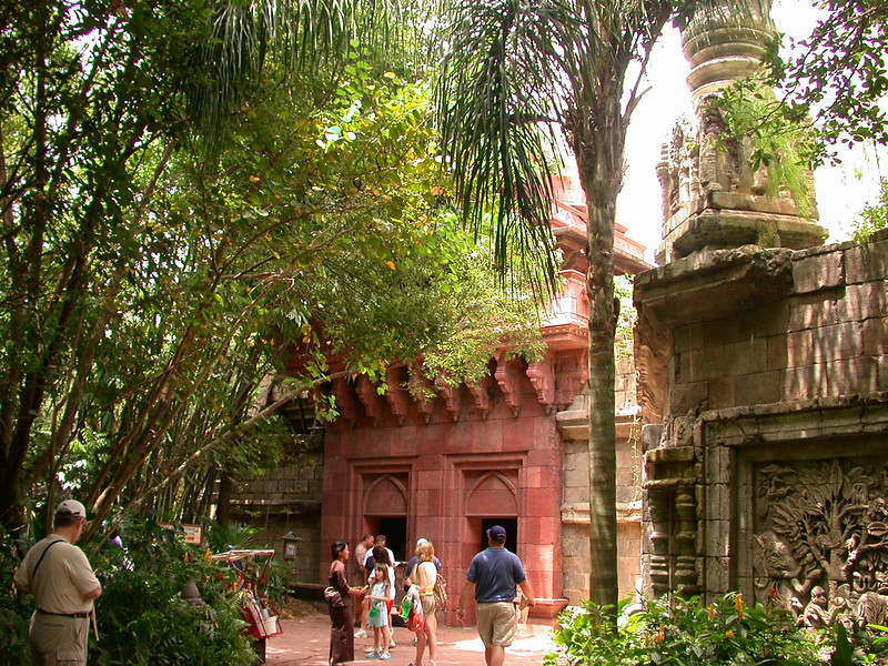 Entrance to the avian section of the Maharajah Jungle Trek at Disney's Animal Kingdom Park.