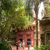 Entrance to the avian section of the Maharajah Jungle Trek at Disney's Animal Kingdom Park.