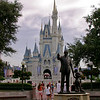 The Partners Statue in front of Cinderella's Castle.