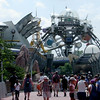 Entrance to Tomorrowland, alas the Florida heat and humidty is intense even in the late morning.