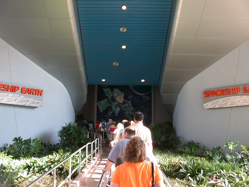 Our first attraction this trip was Spaceship Earth.