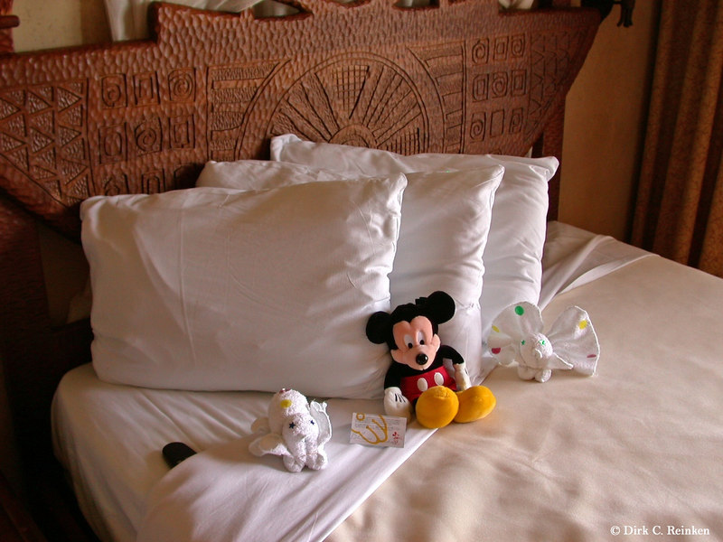 Disney's Animal Kingdom Lodge.  Mickey with Towel Animals.