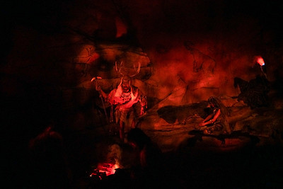 Spaceship Earth; Caveman Scene