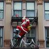 Santa, near Pizza Planet