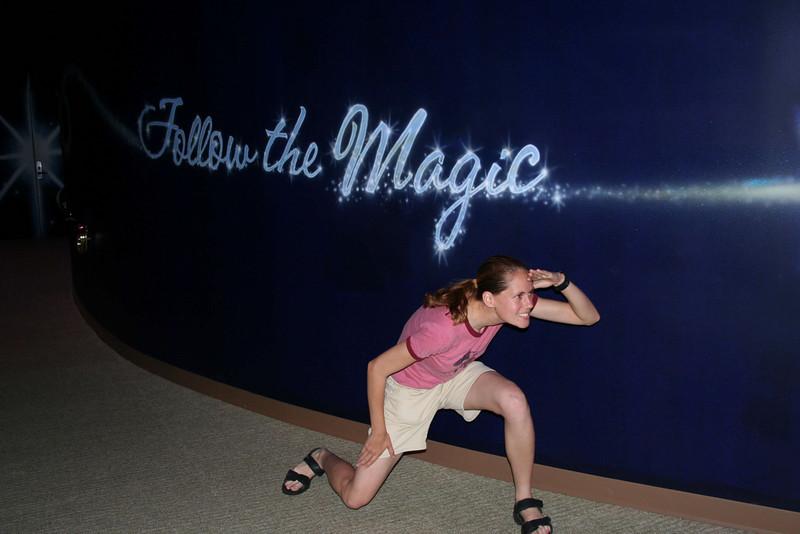 Me following the Magic!