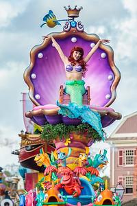 Ariel in the Disney Festival of Fantasy Parade
