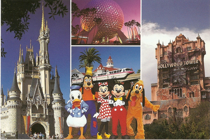 Walt Disney World postcard