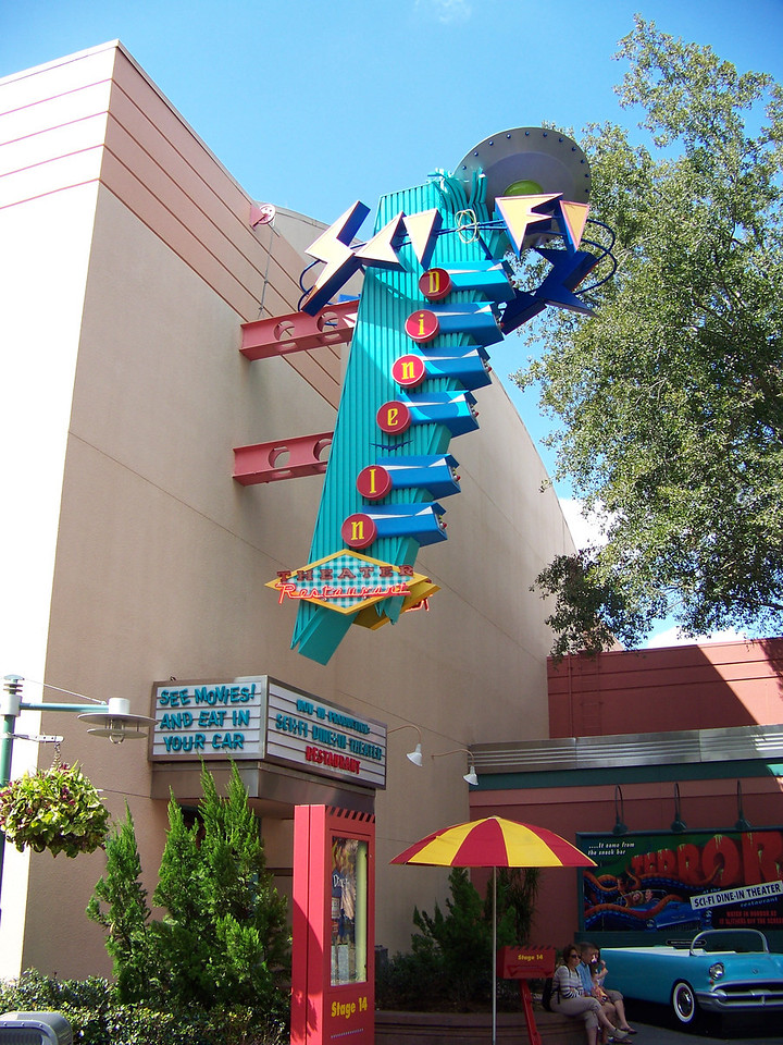 We went to the Sci-Fi Dine-In Theater for lunch.<br /> [Disney's Hollywood Studios]