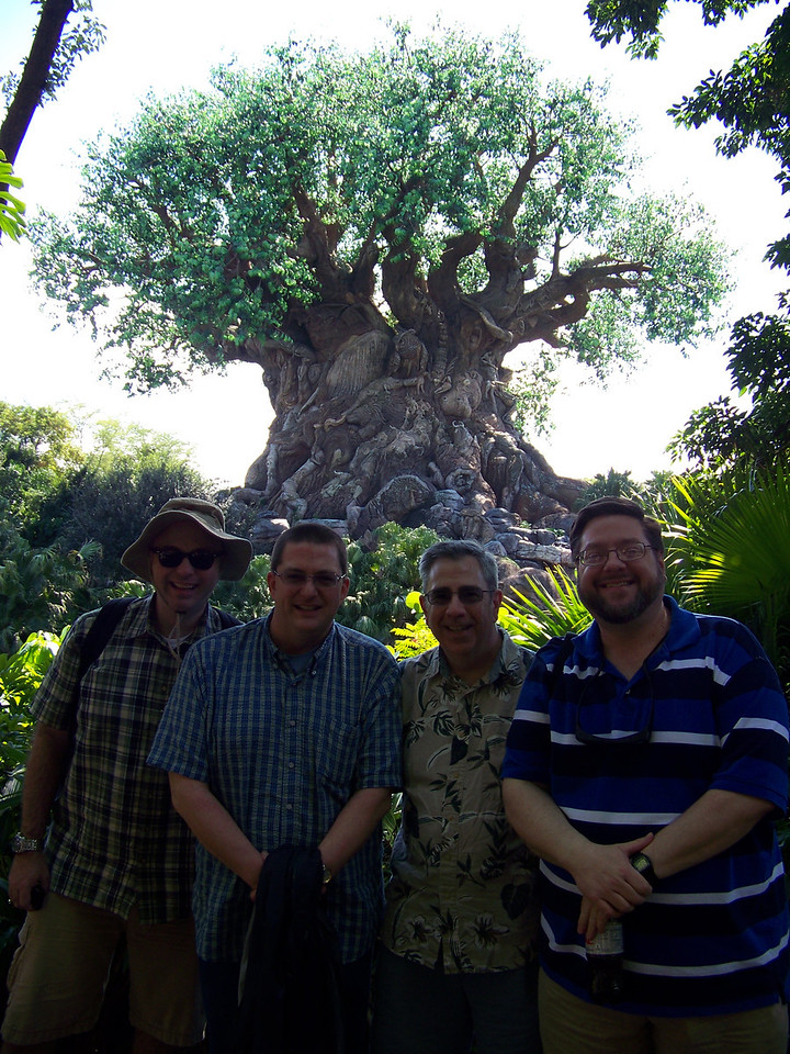 This shot was taken by the Disney's Photopass photographer using my camera.  He had the exposure focused on the Tree of Life, rather than on us.<br /> [Disney's Animal Kingdom]