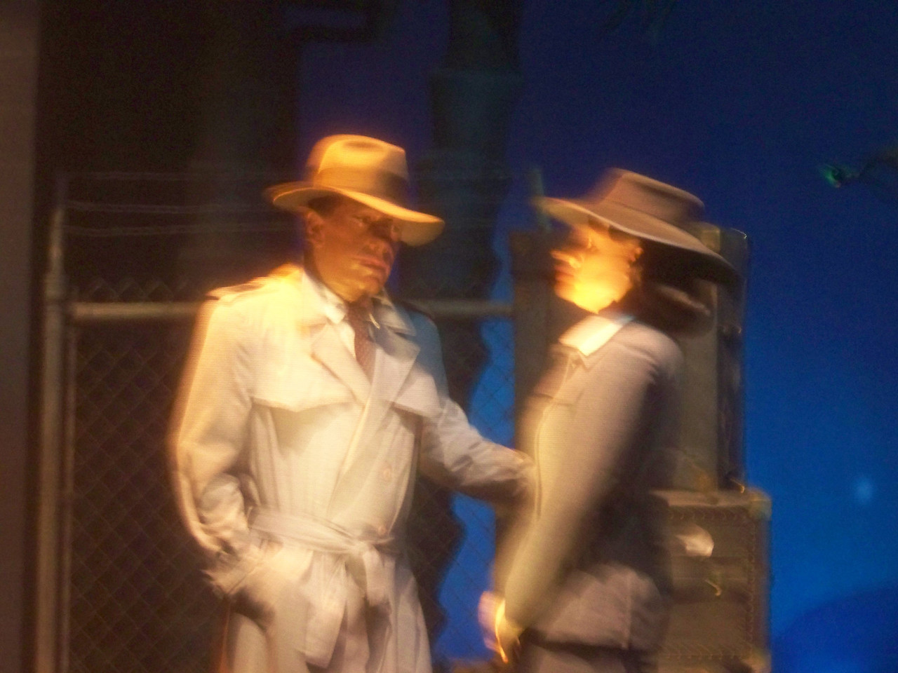 In a scene from Casablanca (one of my all-time favorites!), Humphrey Bogart and Ingrid Bergman realize that the problems of two little people don't amount to a hill of beans in this crazy world.<br /> [Disney's Hollywood Studios - Great Movie Ride]