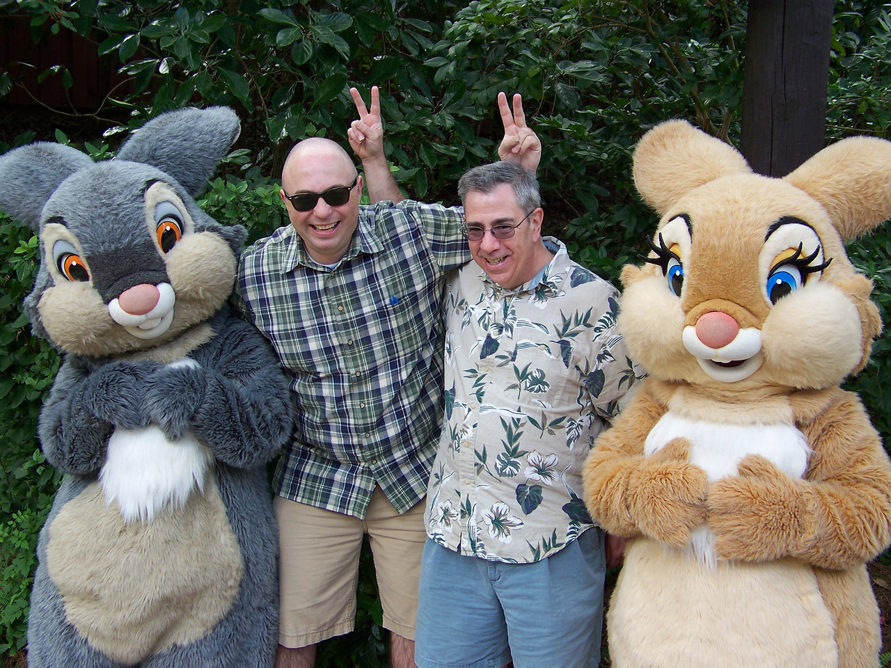 Take two!  We asked the character handler with them and yes, Miss Bunny is her official name--she was Thumper's girlfriend and was only on screen in the Bambi movie for a few moments.<br /> [Disney's Animal Kingdom]