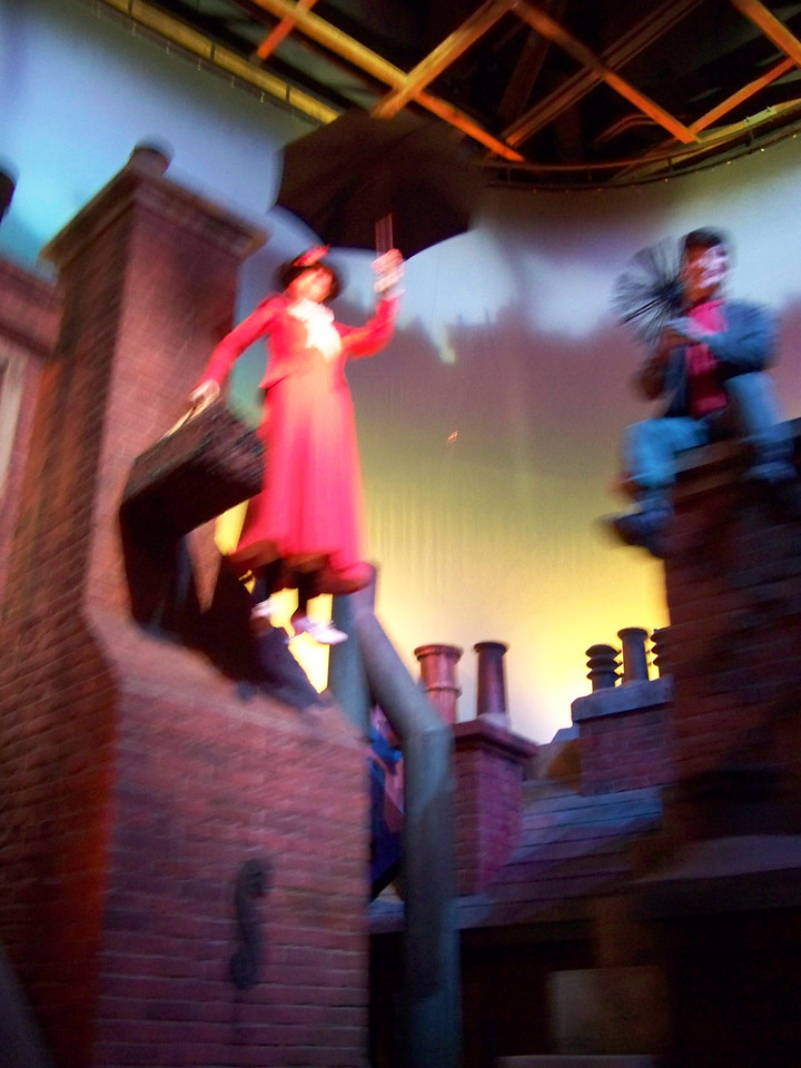 Here's Bert and Mary Poppins, who appears to be flying in this scene.<br /> [Disney's Hollywood Studios - Great Movie Ride]