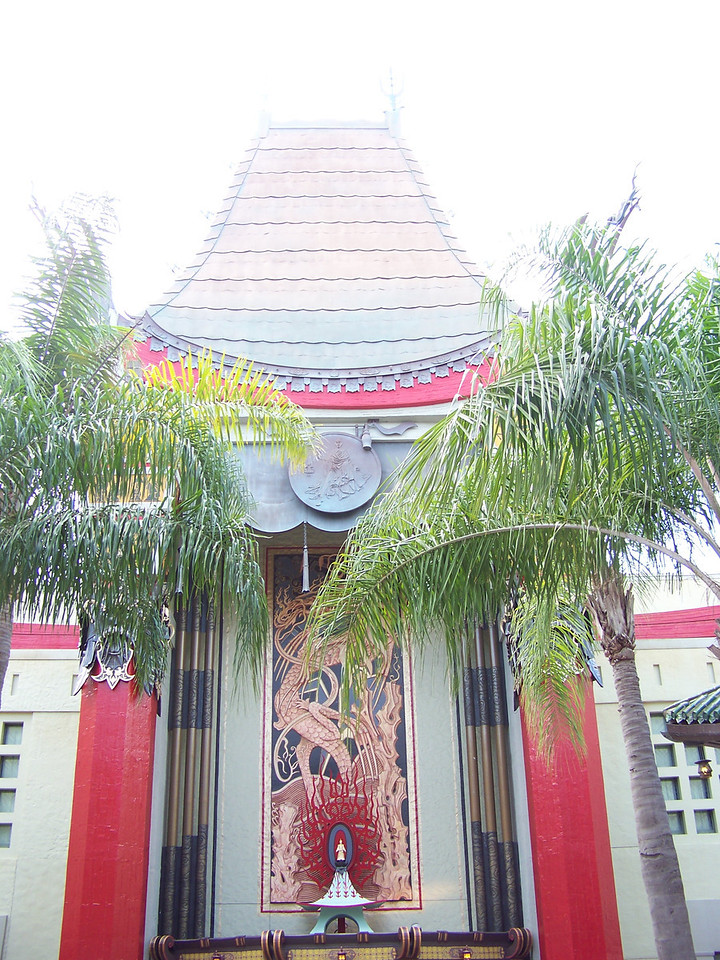 At the end of Hollywood Blvd. is a replica of Grauman's Chinese Theater.<br /> [Disney's Hollywood Studios]