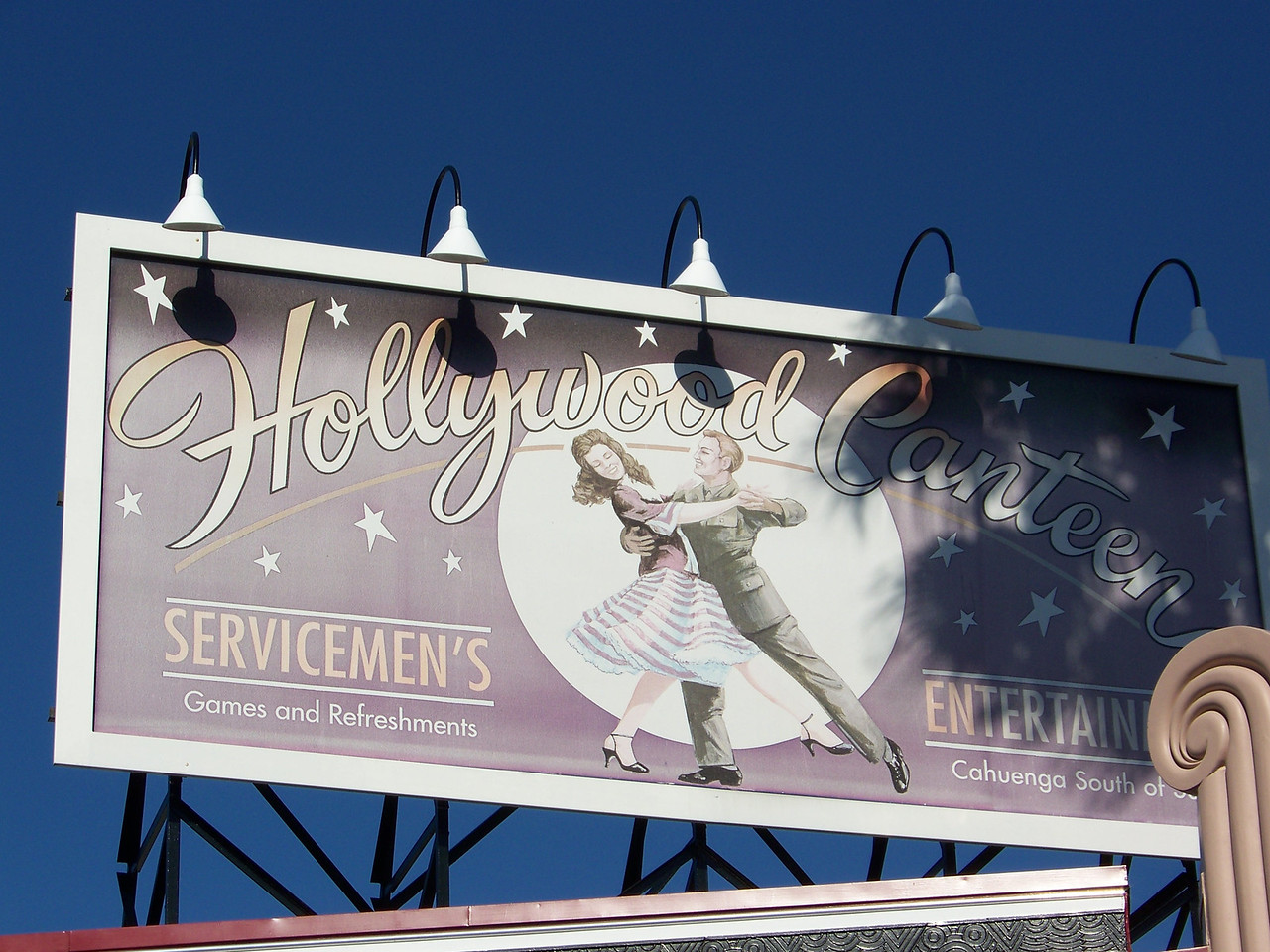 Hollywood Canteen billboard on Hollywood Blvd.<br /> [Disney's Hollywood Studios]
