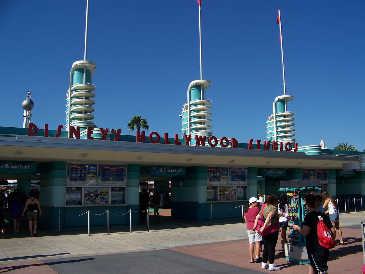 These are the entry gates to WDW's fourth theme park, the recently renamed Disney's Hollywood Studios (formerly The Disney-MGM Studios).<br /> In contrast to Animal Kingdom, hooray for Hollywood!  We were also at this park for just one day, but it was a very full day.  I could've gone back for another day, too.