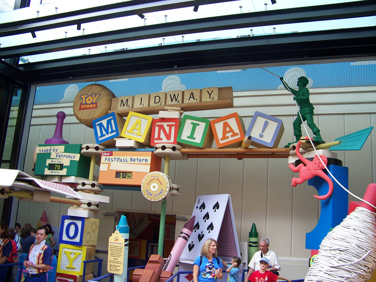 The attraction in the Pixar Studios section is Toy Story Midway Mania.   This is the entrance.<br /> [Disney's Hollywood Studios]