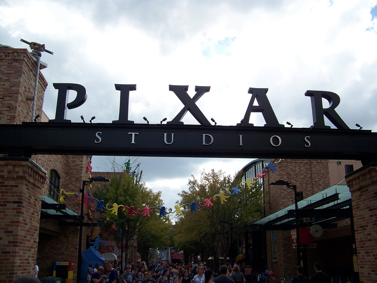 One section of the park has become Pixar Studios.  The brick facades here resemble the buildings of the real Pixar campus in Emeryville, CA.<br /> [Disney's Hollywood Studios]