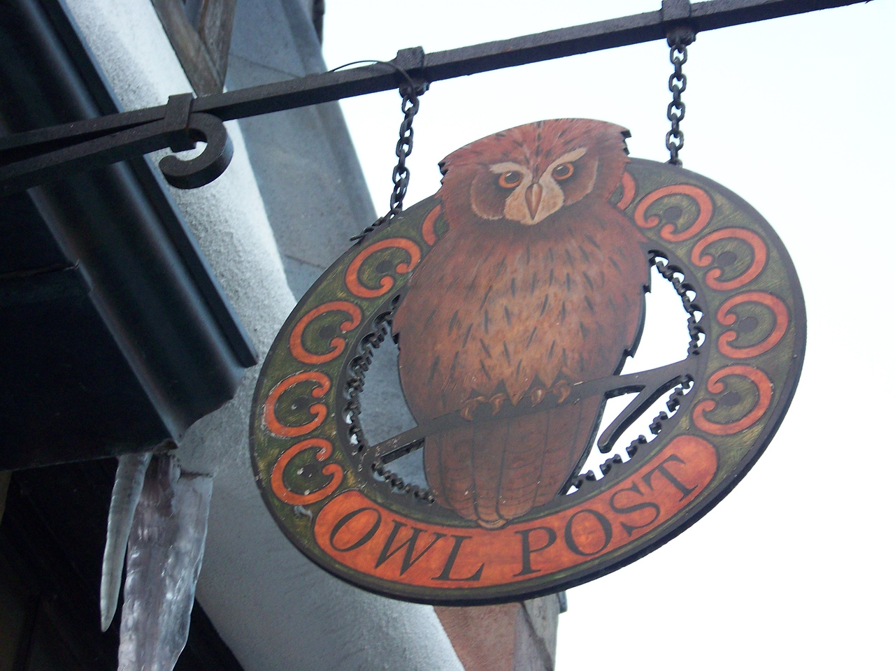 Owl Post sign.<br /> [Universal Islands of Adventure - Wizarding World of Harry Potter]