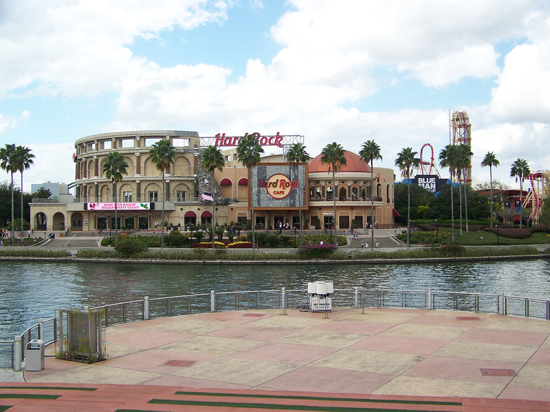 Directly across the lake is more of Universal CityWalk, which is full of shops and restaurants that anyone can access without an admission charge.<br /> [Universal Orlando]