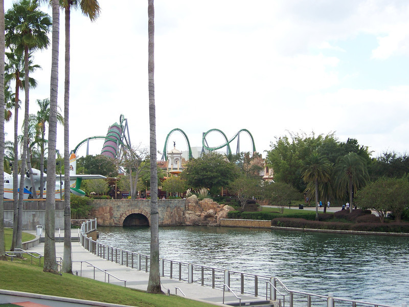 To the far left of the lake is our first destination.<br /> [Universal Orlando]