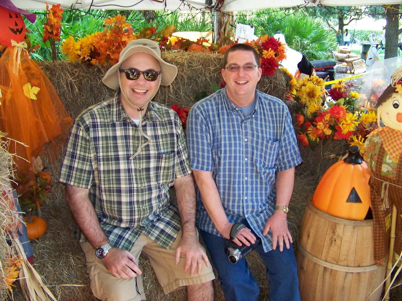 Pat and Jeff at the pumpkin patch.<br /> [Celebration, Florida]