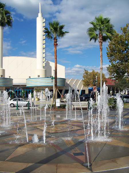 """Across the street from the theater was a """"dancing waters"""" fountain.<br /> [Celebration, Florida]"""