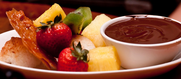 Chocolate Fondue with Tropical Fruit and House-made Cookies