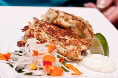 Lump Crab Cakes - with Asian tartar and pineapple relish