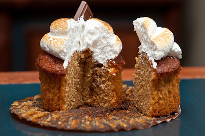 Toasted marshmallow, Hersey bars with a graham cracker flavored cake